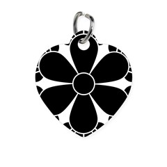 Six cloves Heart Pet Tag