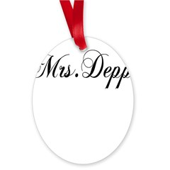 Mrs. Depp Oval Ornament