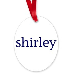 Shirley Oval Ornament