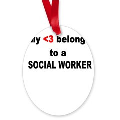 Social Worker Oval Ornament