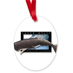 Sperm Whale Art Oval Ornament