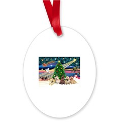 XmasMagic/5 Carins Oval Ornament