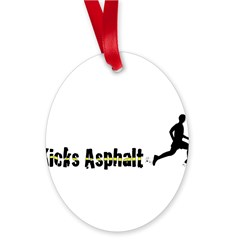 Kicks Asphalt Oval Ornament