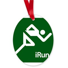 iRun Oval Ornament
