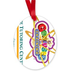 Genius In Training Oval Ornament