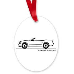 2007 Ford Mustang Convertible Oval Ornament