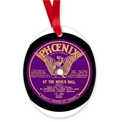 Phoenix Oval Ornament