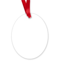Oy with the Poodles Oval Ornament