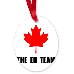 Canada The Eh Team Oval Ornament