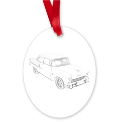Chevy Bel Air Oval Ornament