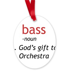 Bass Definition Oval Ornament