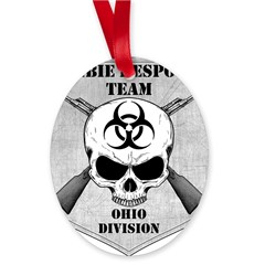 Zombie Response Team: Ohio Division Oval Ornament