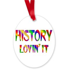History Love Oval Ornament
