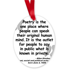 Ginsberg People Quote Oval Ornament