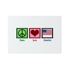 Peace Love America Glass Cutting Board