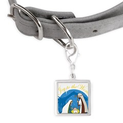 nativity scene cp.png Small Square Pet Tag