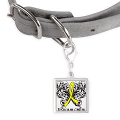 Butterfly Testicular Cancer Small Square Pet Tag