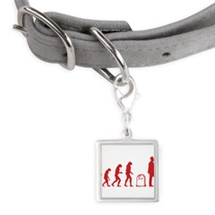 Evolution zombie Small Square Pet Tag