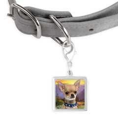 Chihuahua Meadow Small Square Pet Tag