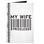 My Wife Priceless Barcode Journal