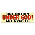"One Nation ""UNDER GOD!"" Bumper Sticker"