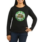 Wet Pond Frog Women's Long Black T-Shirt