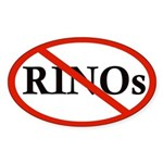 No RINOs Oval Sticker