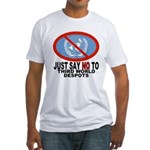 Just say NO to the UN Fitted T-Shirt