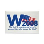 W in 2008 Joke Rectangle Magnet