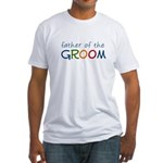 Father of the Groom Rainbow Fitted T-Shirt