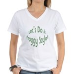 Do It Froggy Style Women's V-Neck T-Shirt