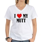 Love My Mutt Women's V-Neck T-Shirt
