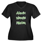 Atomic Wedgie Master Women's Plus Size V-Neck Dark