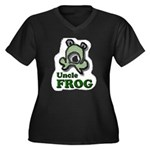 Uncle Frog's Women's Plus Size V-Neck Dark TShirt