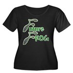 Future Frog Women's Plus Size Scoop Neck Dark Tee