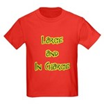 Large And In Charge Kids Dark T-Shirt