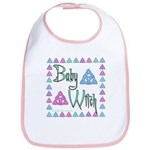 """Baby Witch"" Triquetras Bib"