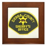 Sierra County Sheriff Framed Tile