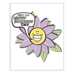 Happy Mother's Day Purple Flower Small Poster