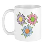 Pretty Mother's Day Cartoon Flowers Mug
