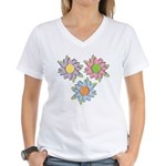 Pretty Mother's Day Cartoon Flowers Women's V-Neck