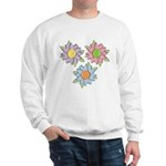 Pretty Mother's Day Cartoon Flowers Sweatshirt