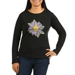 Purple Cartoon Flower Spring Women's Long Sleeve D