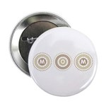 """Cool Mod Mom Dots Mother's Day 2.25"""" Button (100 p"""