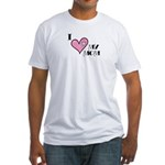 I Love Heart My Mom Mother's Day Fitted T-Shirt