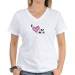 I Love Heart My Mom Mother's Day Women's V-Neck T-