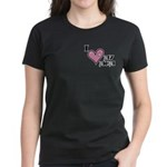 I Love Heart My Mom Mother's Day Women's Dark T-Sh