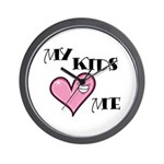 My Kids Love Heart Me Mom Teacher Wall Clock