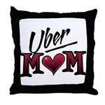 Uber Mom Mother's Day Heart Throw Pillow