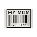 My Mom Priceless Barcode Rectangle Magnet (10 pack